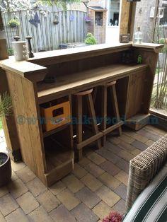 Steigerhout bar / Buiten keukens | Falkwood Maatwerk | Falkwood