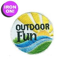 Outdoor Fun Patch to compliment your Brownie Hiker Badge. From MakingFriends.com