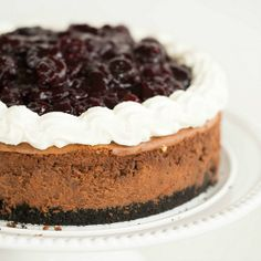 Black Forest Cheesecake Recipe | Brown Eyed Baker