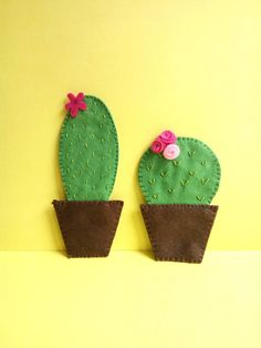 Felt Magnet, Cactus, Refrigerator Magnets, Cacti And Succulents, Cute Gifts, Mothers, Colorful, Gift Ideas, Sewing