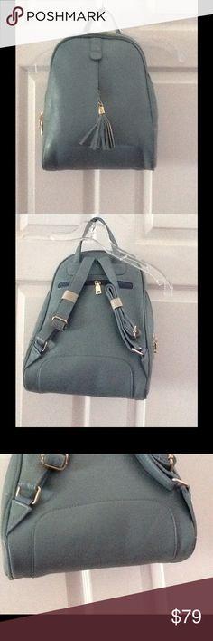 NWOT Light blue leather backpack NWOT Light blue leather backpack unknown Bags Backpacks