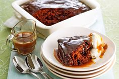 Butterscotch Pudding with RumSpiked Caramel Sauce recipe, NZ Womans Weekly – For people who really love their desserts try this rich and delicious treat - Eat Well (formerly Bite) Hot Desserts, Sticky Date Pudding, Butterscotch Pudding, Pecan Nuts, Almond Cream, Sticky Toffee, Sweet Wine, Clotted Cream, Something Sweet