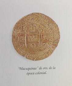 """""""Macuquinas"""" de oro de la época colonial, parte de la colección de Monedas Coloniales de Banco de Chile."""