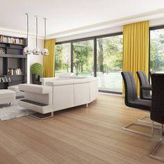 gotowy projekt domu Z378 – aranżacja wnętrz, Parterowy dom z garażem dwustanowiskowym. House Plans Mansion, Concept Home, Modern House Design, Bungalow, Divider, How To Plan, Mansions, Furniture, Home Decor