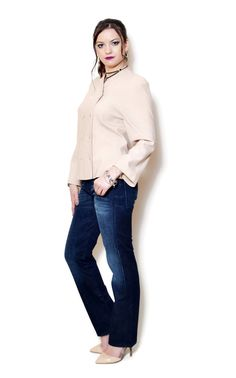 double breasted blazer women outfits  US$64.95