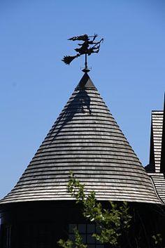Rhode island mansion with witch weathervane