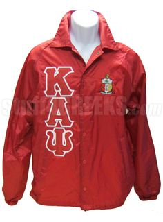 KAPPA ALPHA PSI RED CROSSING JACKET WITH LETTERS AND CREST  Item Id: PRE-KAYBASIC-RED    Retail Price: $79.00  You Save: $19.00  Price: $79.00  Your Price: $60.00