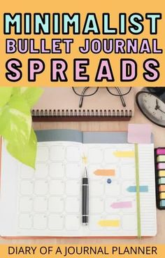 50 of the best minimalist bullet journal spreads to inspire you to start bullet journaling without all the fuss! #bulletjournalspreads #minimalistbulletjournal #bujo Bullet Journal Hacks, Bullet Journal Printables, Bullet Journal Spread, Bullet Journals, Best Daily Planner, Daily Planners, Minimalist Bullet Journal Layout, Weekly Planner Template, Bullet Journal Inspiration