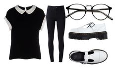 """""""library"""" by kittykats146 ❤ liked on Polyvore featuring Dr. Martens, Armani Collezioni and STELLA McCARTNEY"""