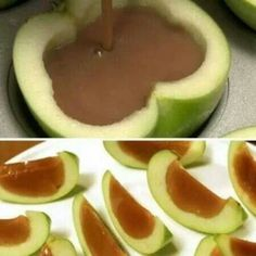 This would work great with the vegan caramel sauce I just pinned. It's on my Vegan Desserts II board. Can't wait to try it! I could also totally see myself filling these with a vegan chocolate/caramel | http://happyhalloweenday.blogspot.com