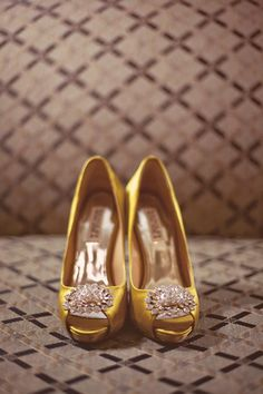 Another great pair of yellow wedding shoes