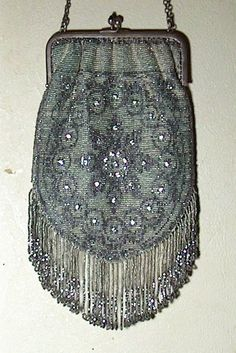 Micro Beaded Antique Evening Bag from the Early by GrandmasBliss
