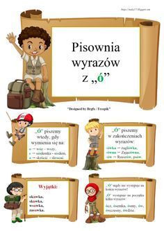 "BLOG EDUKACYJNY DLA DZIECI: PISOWNIA WYRAZÓW Z ""Ó"" - ZASADY Learn Polish, Teacher Morale, Polish Language, Social Platform, Kids Learning, Hand Lettering, Blog, Parenting, Place Card Holders"