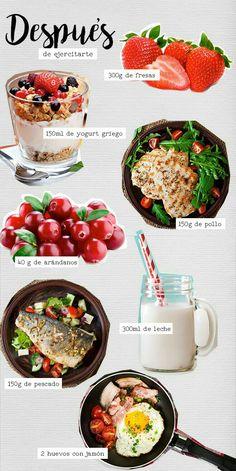 Alimentos para después de ejercitarse