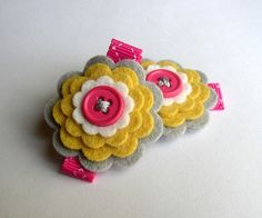 I like the felt flowers in this blog