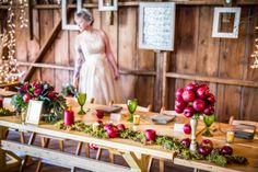Apple Themed Fall Styled Shoot Styled by Jessica Wonders Weddings and Events Photography: James Netz Photography Floral Design: Florology Venues & Officiants: Dellwood Barn Weddings Cakes & Catering: Sara's Tipsy Pies Beauty: Spa Beauty MN Rentals: Apres Party & Tent Rental Model: Renee Springer