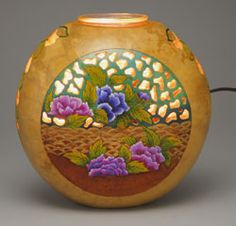 Light up your home with a one-of-a-kind decoration, a beautiful Gourd Votive by Christy Barajas!