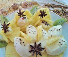 Ananas con crema di mascarpone all\'aroma di anice per \