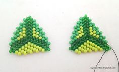 DIY: How to bead flat triangles