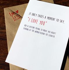 HAHAHA!! So true! Love this card  Wedding & Engagement Cards http://lovelayladesigns.co.uk