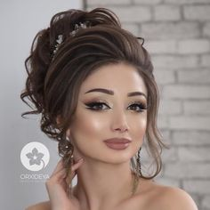 I get weak at my knees and get super strenght from just a glance from your beauty and oppulence. Blessed are we All prayers for Queen Bridal Makeup Looks, Wedding Hair And Makeup, Hair Makeup, Bridal Hair Buns, Bridal Hairdo, Wedding Hairstyles For Long Hair, Bride Hairstyles, Front Hair Styles, Romantic Wedding Hair