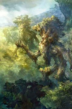Ents of Fangorn, the hobbit, lotr Thranduil, Legolas, Gandalf, Fantasy World, Fantasy Art, Fantasy Life, J. R. R. Tolkien, Special Pictures, Illustration