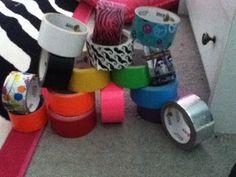 Craft stuff duck tape!!!!!!