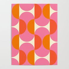 Capsule Sixties Poster by caligrafica Illustrations, Illustration Art, Grafik Design, Diy Frame, Textures Patterns, Color Patterns, Art Inspo, Pattern Design, Abstract Art