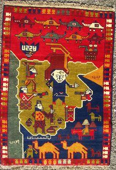 Afghanistan War Rug 1999. Warrug.com