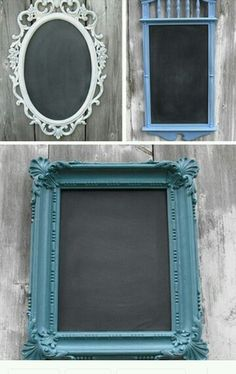 Turn old mirrors into unqiue blackboards! #Craft #Paint Source: