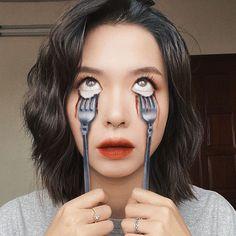 Fancy Makeup, Cool Makeup Looks, Old Makeup, Creative Makeup Looks, Makeup Art, Horror Makeup, Scary Makeup, Cute Halloween Makeup, Eye Makeup Designs