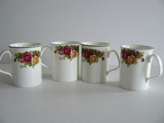 Vintage Old Country Roses Mugs by Saltofmotherearth on Etsy, $40.00