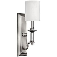 "Hinkley Sussex 17 3/4"" High Brushed Nickel Wall Sconce"