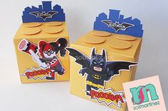 Lego Batman party favor / dulceros fiesta Lego Batman