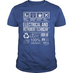 cool   Awesome Tee For Electrical And Instrument Technician - Free Shirt design
