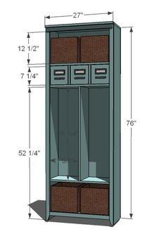 I want to make this!  DIY Furniture Plan from Ana-White.com  Build a locker cabinet with cubbies to use as a charging station. Free simple plans with step by step diagrams, cut list and shopping list.