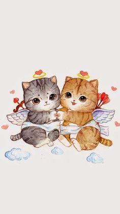 Nutrition And Dietetics Info: 9048859608 Gato Anime, F2 Savannah Cat, Wallpaper App, Cat Drawing, Cat Art, Cute Cartoon, Cats And Kittens, Cute Cats, Cute Animals