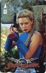 Phonecard: Street Fighter-K Minogue (Card Phone, Australia) (Movie) Car:2P9511