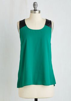 Ibiza Versa Top in Sea Green. Youre enamored by island living, which you set out to celebrate in this Jack by BB Dakota tank top. #green #modcloth