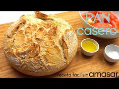 PAN casero 🍞 SIN AMASAR, en 3 minutos 🥖 receta muy fácil. - YouTube Pan Bread, Bread Baking, Bakers Yeast, Savory Muffins, Cooking Recipes, Healthy Recipes, Biscuit Cookies, How To Make Bread, Mexican Food Recipes