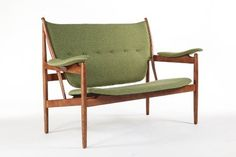 Finn Juhl Style Mid-Century Chieftains Sofa- Green  Price : $1,650.00 http://www.frooogal.com/Style-Mid-Century-Chieftains-Sofa--Green/dp/B00G6UG8XQ