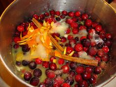 Homemade Cranberry Sauce. I love our recipe but this looks soooo pretty to begin with will have to make it once at least.