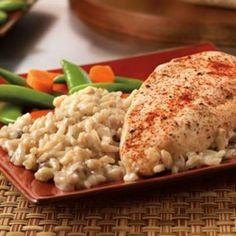 One Dish Chicken & Rice Bake with Cream of Mushroom Soup