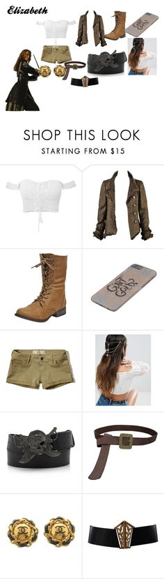 """""""Elizabeth Pirates of the Caribbean"""" by jennawoollard on Polyvore featuring Chanel, Hollister Co., ASOS and Ugo Cacciatori"""