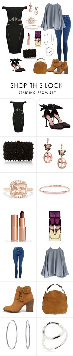 """""""Oppisites"""" by parnett ❤ liked on Polyvore featuring Wow Couture, Miu Miu, Elie Saab, Effy Jewelry, Anne Sisteron, Charlotte Tilbury, Christian Louboutin, Topshop, Steve Madden and UGG"""