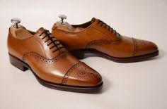 Meermin Caballero Goodyear Cosido A Mano men's brown leather brogue dress shoes