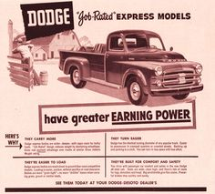 "1953 DODGE ""Job Rated"" Express Models"
