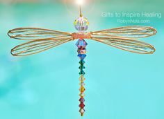 Dragonflies are reminders that we are light and can reflect the light in powerful ways if we choose to do so. Always remember to shine your beautiful light for all to see! ♥