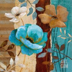 Cara's Garden II Art Print by Nan at Art.com