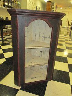 Rustic Hanging Corner Cabinet